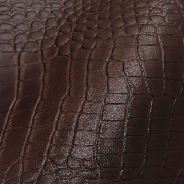 Brown Crocodile Leather