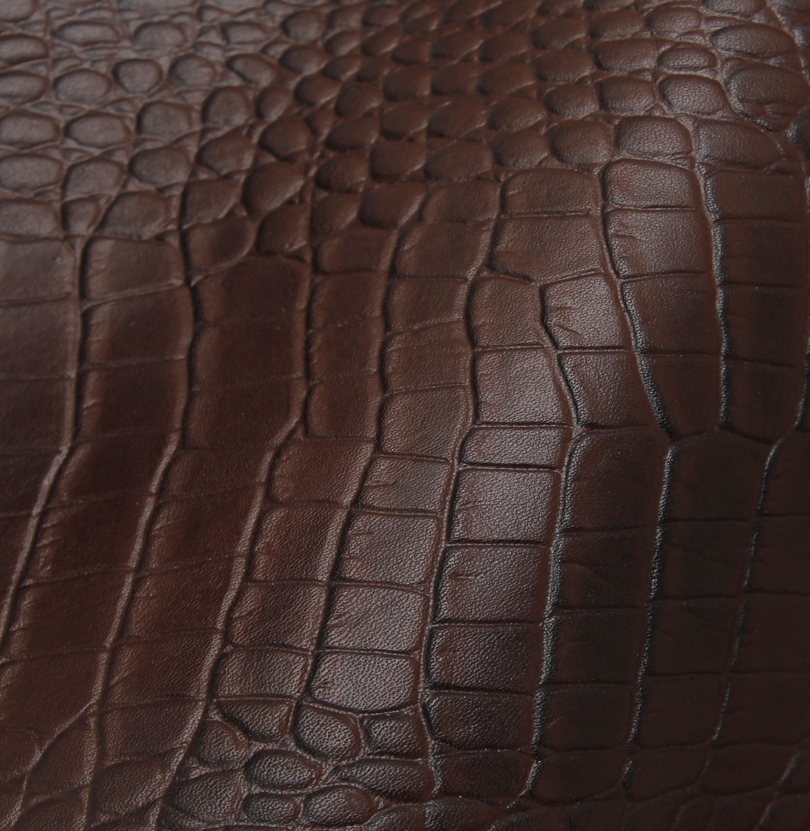 Brown Crocodile Leather