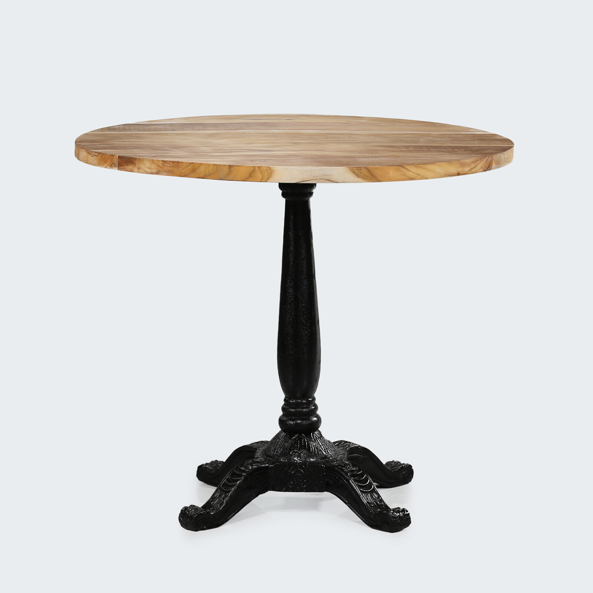Cast iron table rattan commercial furniture supplier for Cast iron dining table