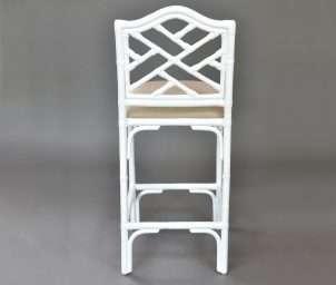 Chippendale premium stool white_back WS