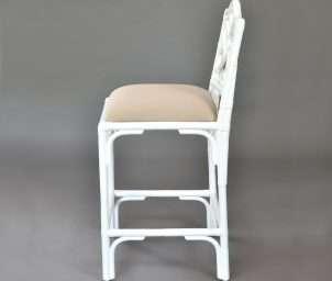 Chippendale premium stool white_side left WS