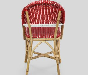 Classique side chair red_Taupe_back_WS