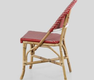 Classique side chair red_Taupe_sideWS