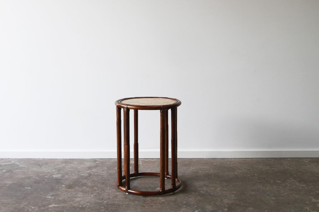 Rattan tall side table