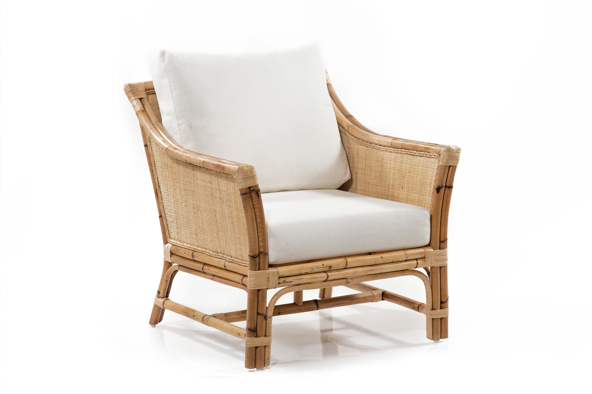 Caribbean, British Colonial Armchair, West Indies Rattan , Rattan Armchair,  Cane Armchair,