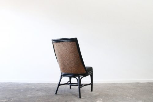 Upholstered rattan dining chair