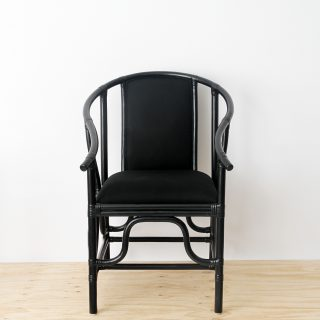 Upholstered rattan chair