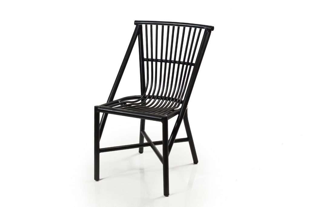 Outdoor aluminium dining chair