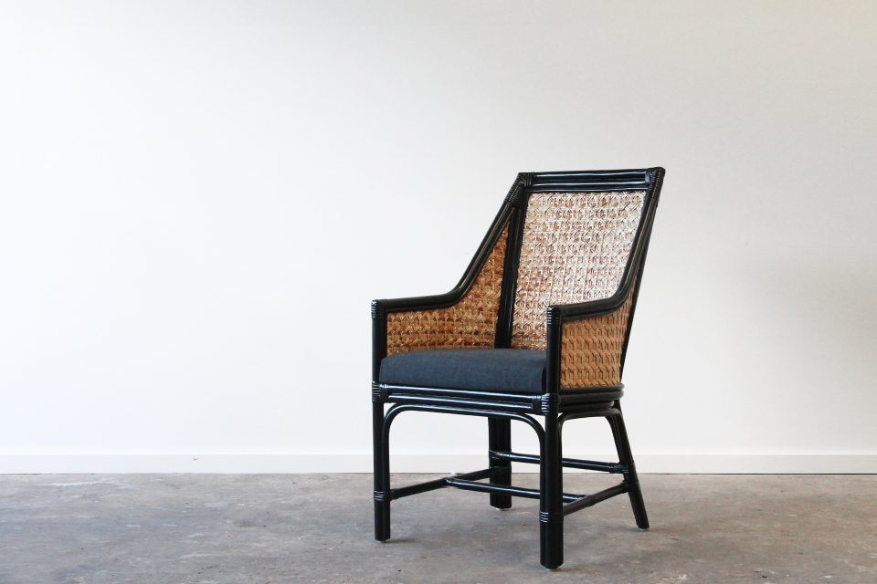 Cane dining chair