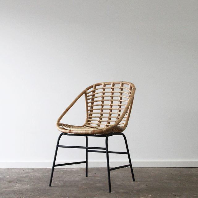 Scandinavian Rattan dining chair
