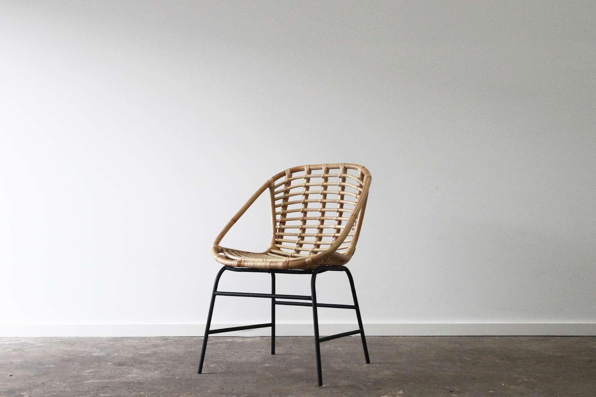 Scandinavian Rattan dining chair
