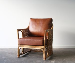 Barrel armchair_Leather_WS