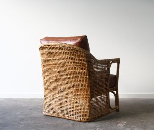 Barrel armchair_back_Leather_WS