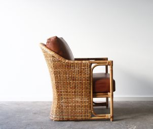 Barrel armchair_side_Leather_WS