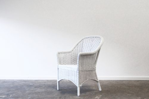 Wicker woven dining chair