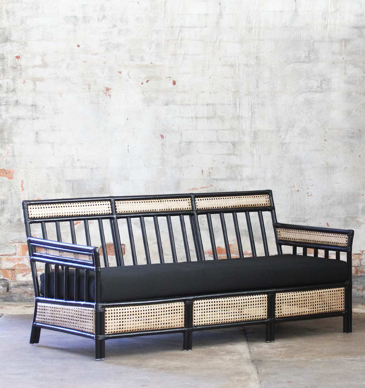 Hand Canned 3 seater lounge