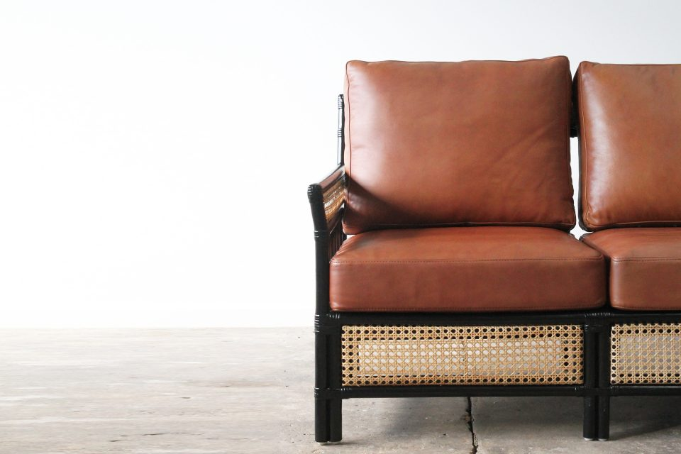 Rattan and leather
