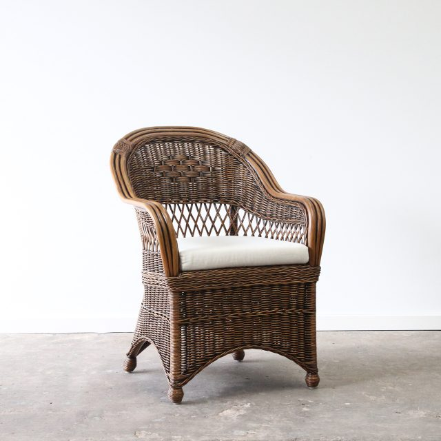 woven carver dining chair