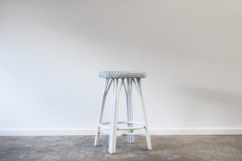 Outdoor aluminium woven barstool