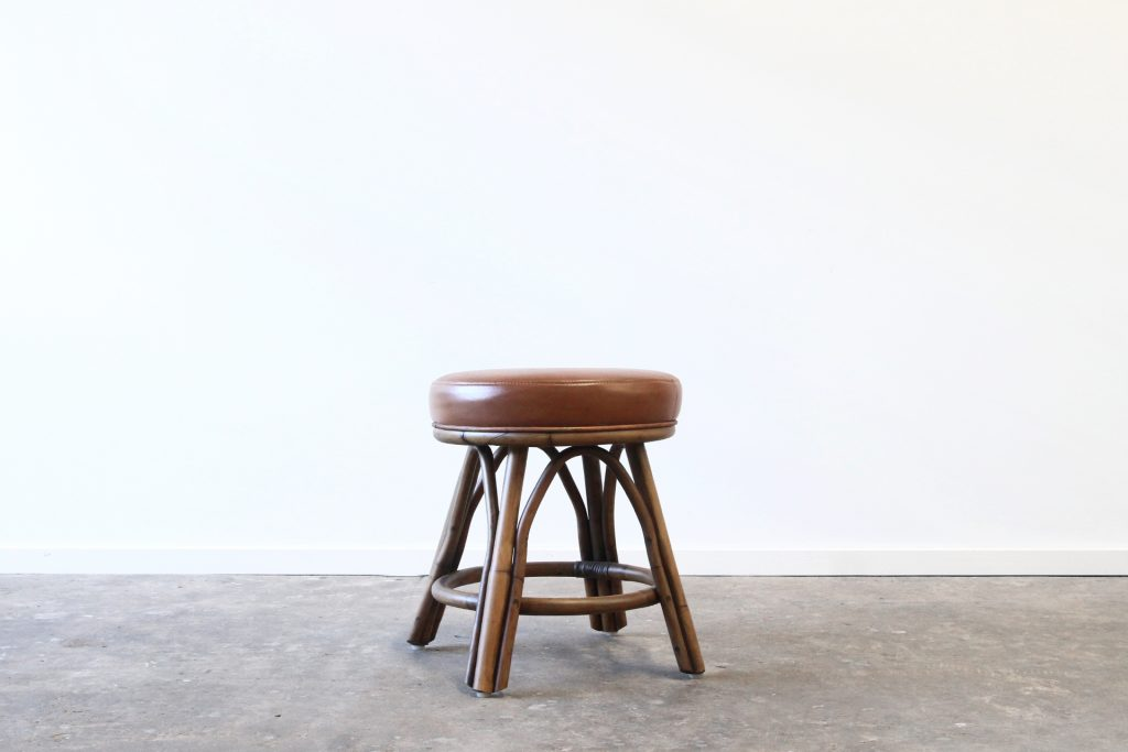 Pacifica low stool leather top