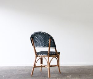 Classique side chair_navy white_back_LS