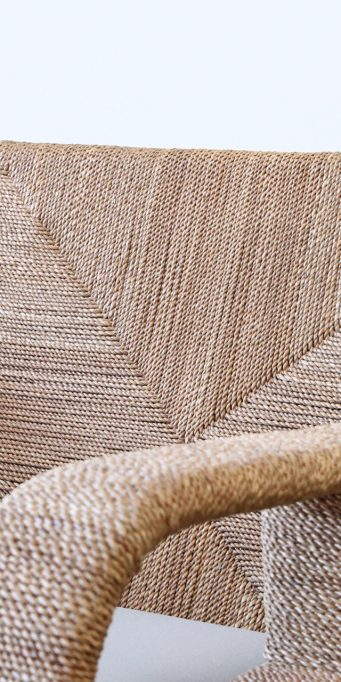 Corda armchair taupe back detail_LS