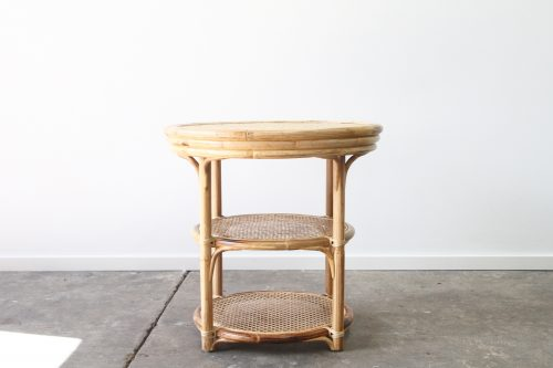 Cane console table