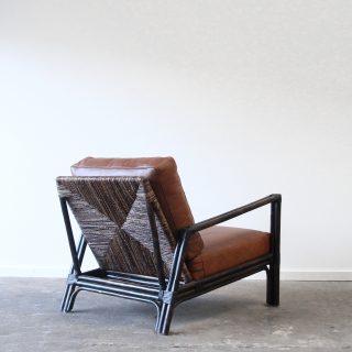 Rattan scandinavian style armchair