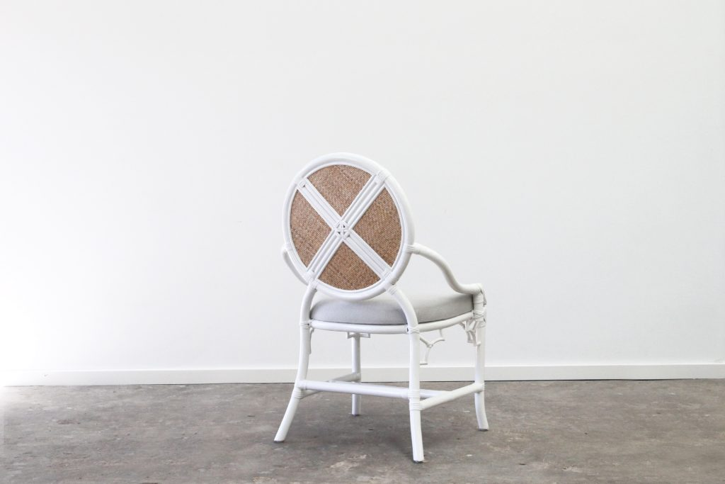 Rattan upholstered dining chair
