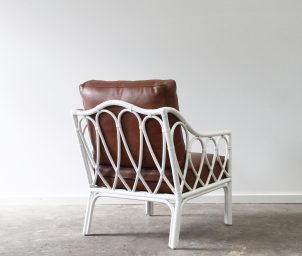 Hump back chair lether_LS