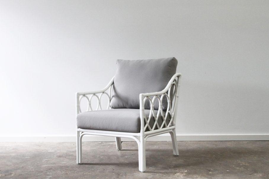Rattan hoop armchair