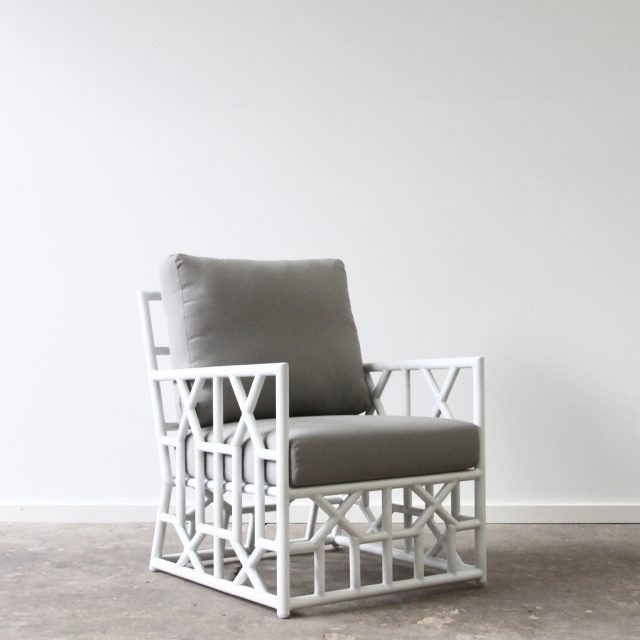 Outdoor aluminium armchair