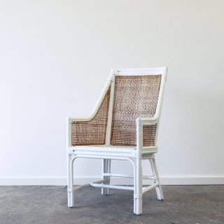 Rattan carver dining chair
