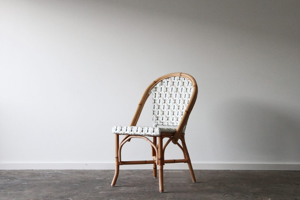 Cafe side chair rattan