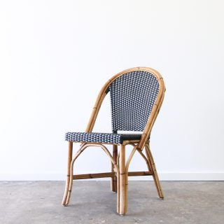 Rattan cafe side chair