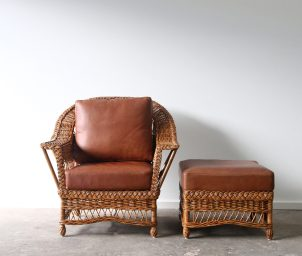 Newport armchair with ottoman_LS