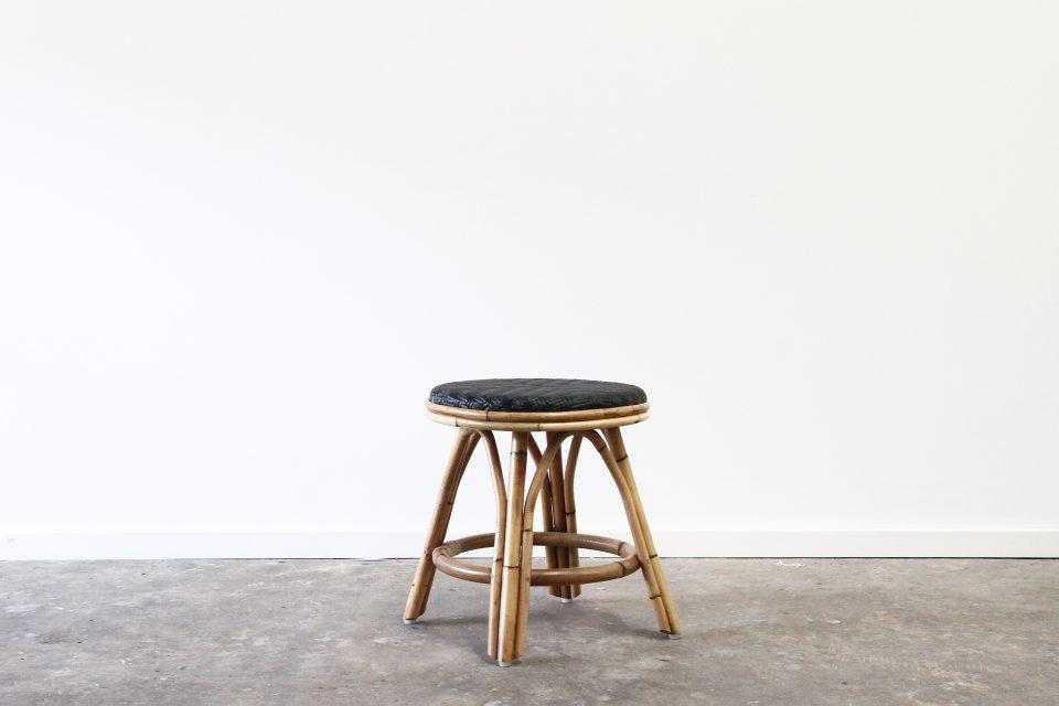 Rattan low stool