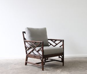 Palm Springs armchair B dark taupe_LS