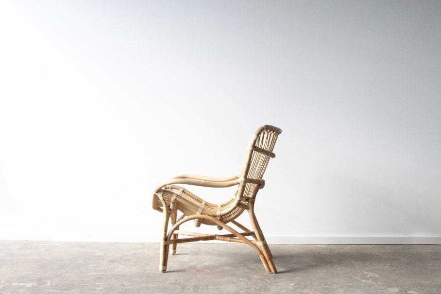 Rattan butterfly armchair