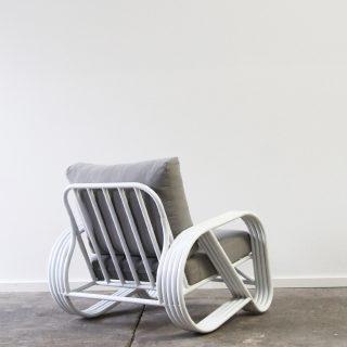 Pretzel armchair aluminium