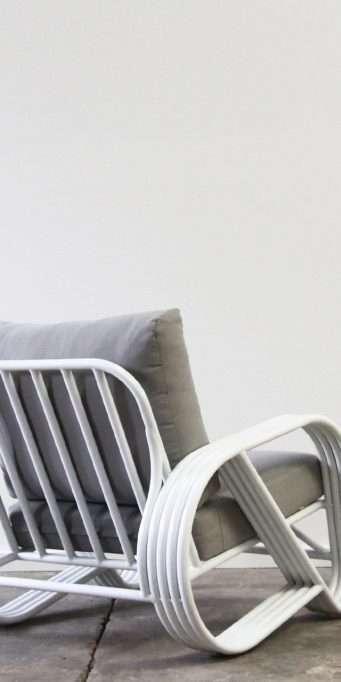 Pretzel armchair aluminium back_LS