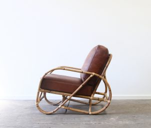 Pretzel armchair whiskey side_LS