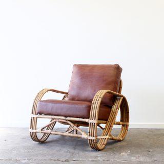 Pretzel armchair leather