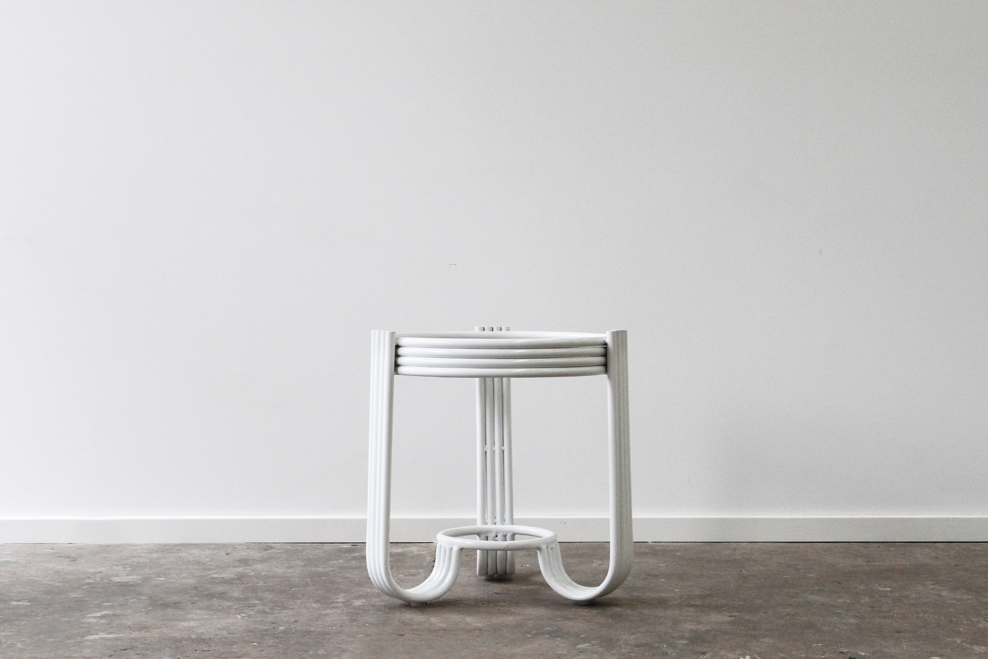 Aluminium side table