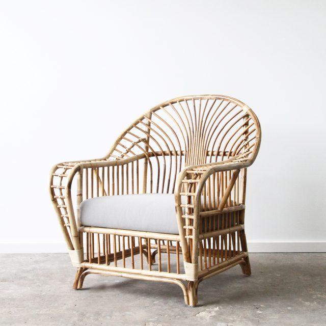 Rattan raffles armchair