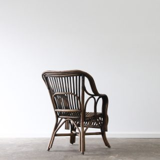 classic split cane armchair