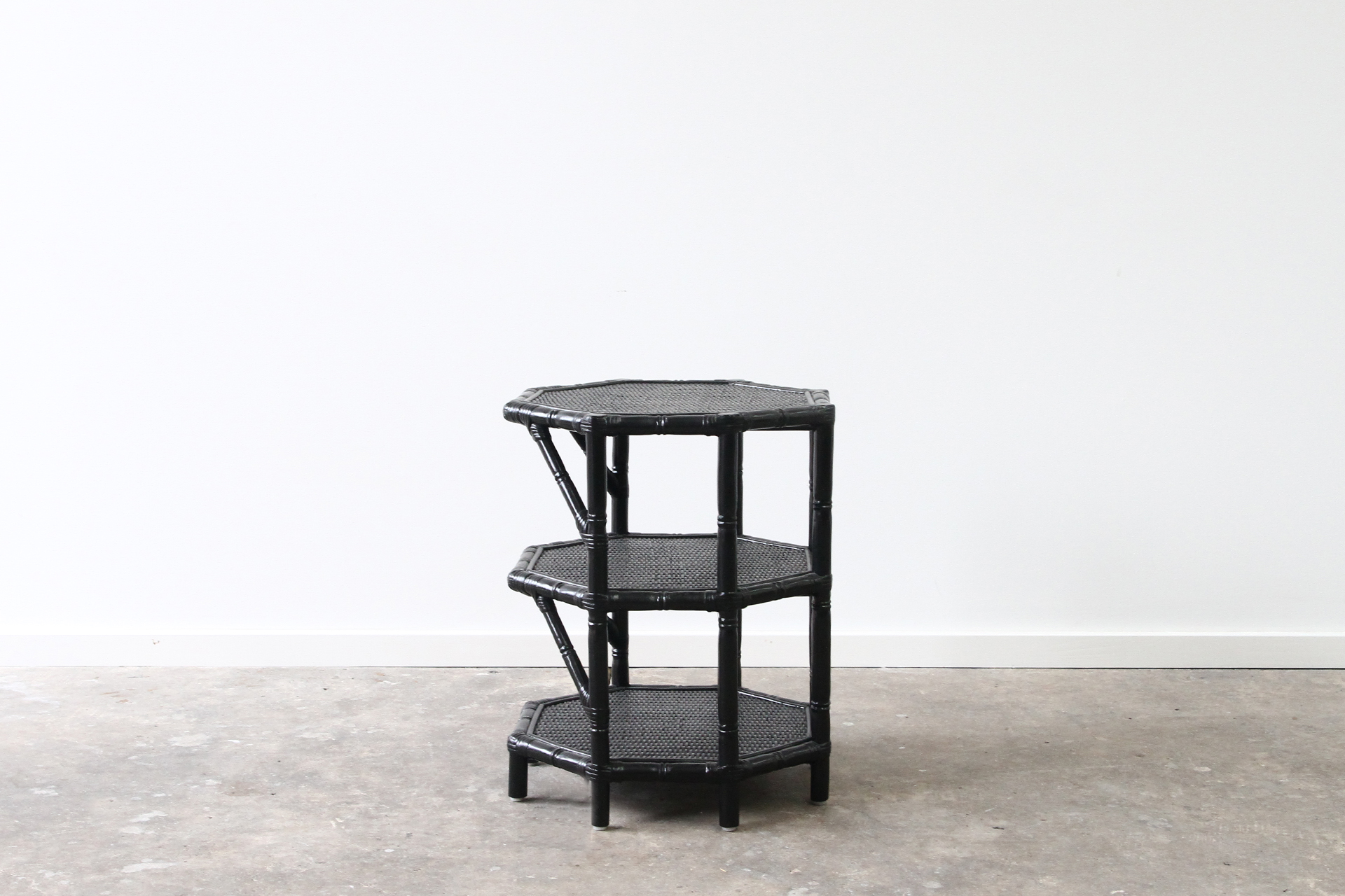 cane tangiers side table black