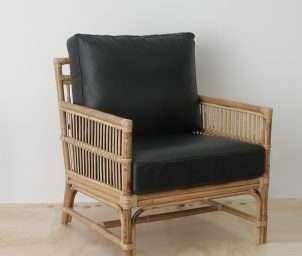 Tribecca armchair_ blackLeather_WS