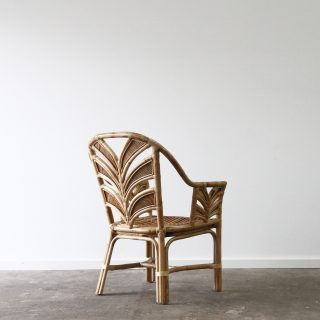 Rattan tropical dining chair