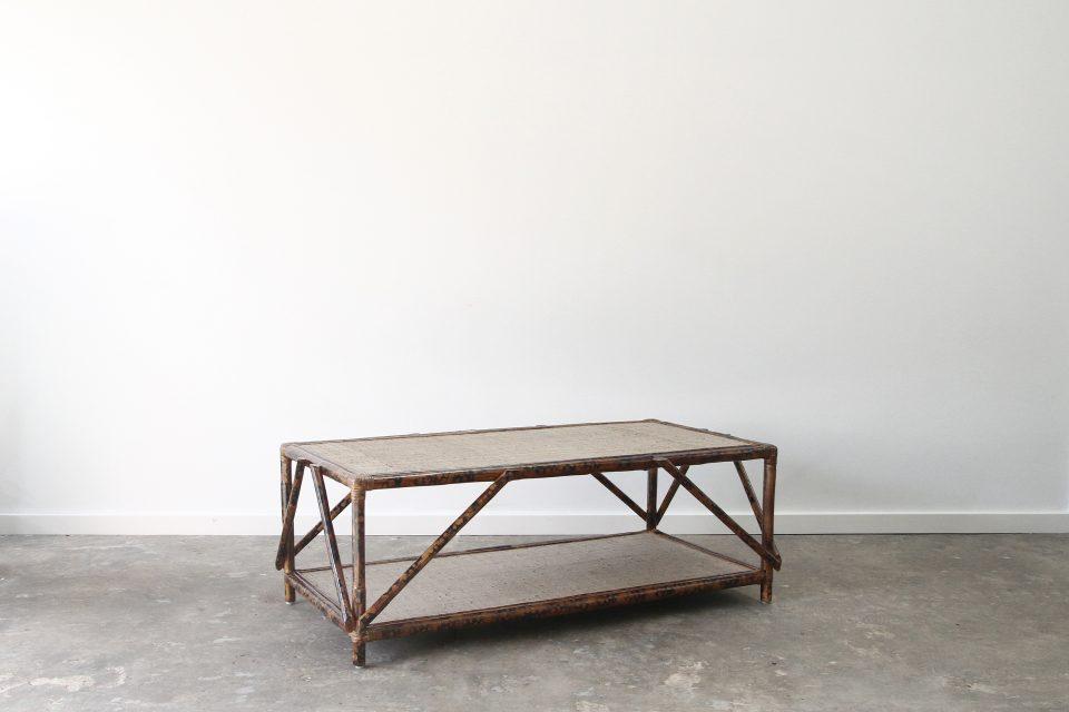 Rattan coffee table